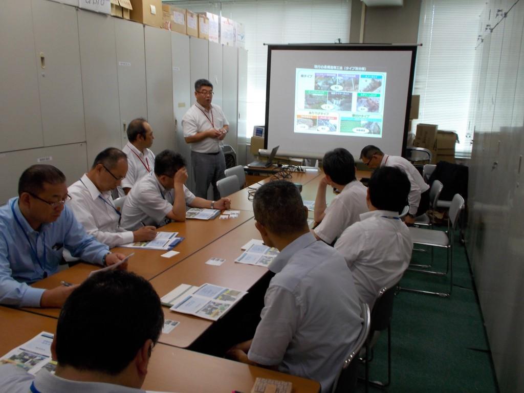 柔構造物工法研究会会員として各地で工法説明会を実施中